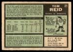 1971 O-Pee-Chee #21  Tom Reid  Back Thumbnail