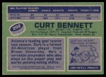 1976 Topps #202  Curt Bennett  Back Thumbnail