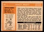 1972 O-Pee-Chee #69  Tracy Pratt  Back Thumbnail