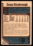 1977 O-Pee-Chee #189  Doug Risebrough  Back Thumbnail