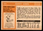 1972 O-Pee-Chee #101  Barry Gibbs  Back Thumbnail