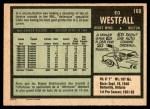 1971 O-Pee-Chee #169  Ed Westfall  Back Thumbnail