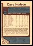 1977 O-Pee-Chee #343  Dave Hudson  Back Thumbnail