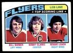1976 Topps #215   -  Bobby Clarke / Reggie Leach / Bill Barber Top Scoring Line Front Thumbnail