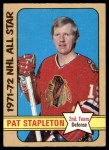 1972 O-Pee-Chee #249   -  Pat Stapleton All-Star Front Thumbnail