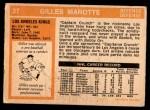 1972 O-Pee-Chee #27  Gilles Marotte  Back Thumbnail