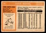 1972 O-Pee-Chee #75  Doug Mohns  Back Thumbnail
