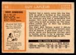 1972 O-Pee-Chee #59  Guy Lafleur  Back Thumbnail