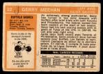 1972 O-Pee-Chee #22  Gerry Meehan  Back Thumbnail