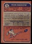1973 Topps #53  Ron Snidow  Back Thumbnail