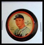 1962 Salada Coins #111  Eddie Mathews  Front Thumbnail