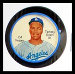 1962 Salada Coins #154 OF Tommy Davis    Front Thumbnail