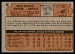 1972 Topps #56  Rich Chiles  Back Thumbnail