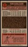 1976 Topps #41  Tom Burleson  Back Thumbnail