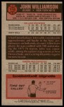 1976 Topps #113  John Williamson  Back Thumbnail