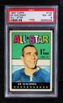1967 Topps #123   -  Ed Giacomin All-Star Front Thumbnail