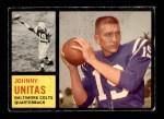 1962 Topps #1  Johnny Unitas  Front Thumbnail