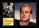 1962 Topps #64  Paul Hornung  Front Thumbnail