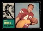 1962 Topps #165  Dick James  Front Thumbnail