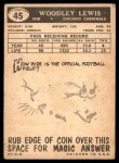 1959 Topps #45  Woodley Lewis  Back Thumbnail