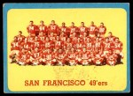 1963 Topps #145   49ers Team Front Thumbnail