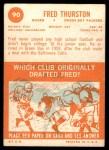 1963 Topps #90  Fred Thurston  Back Thumbnail