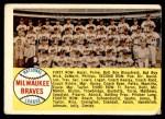 1958 Topps #377 ALP  Braves Team Checklist Front Thumbnail