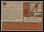 1962 Topps #105  Don Mossi  Back Thumbnail