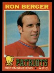 1971 Topps #107  Ron Berger  Front Thumbnail