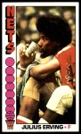 1976 Topps #1  Julius Erving  Front Thumbnail