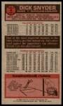 1976 Topps #2  Dick Snyder  Back Thumbnail