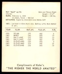 1965 Kahn's  Max Alvis  Back Thumbnail