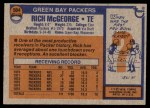 1976 Topps #504  Rich McGeorge  Back Thumbnail