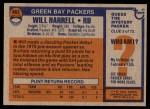 1976 Topps #483  Will Harrell   Back Thumbnail
