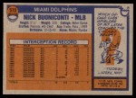 1976 Topps #515  Nick Buoniconti  Back Thumbnail