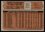 1972 Topps #671  Donn Clendenon  Back Thumbnail