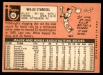 1969 Topps #545  Willie Stargell  Back Thumbnail