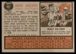 1962 Topps #407  Hank Aguirre  Back Thumbnail