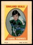 1970 Topps O-Pee-Chee Sticker Stamps #31  Carol Vadnais  Front Thumbnail