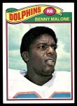1977 Topps #316  Benny Malone  Front Thumbnail