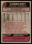 1977 Topps #238  Clarence Scott  Back Thumbnail