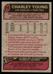 1977 Topps #275  Charley Young  Back Thumbnail