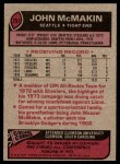 1977 Topps #297  John McMakin  Back Thumbnail