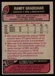 1977 Topps #179  Randy Gradishar  Back Thumbnail