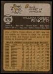 1973 Topps #570  Bill Singer  Back Thumbnail