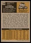 1971 Topps #230  Roman Gabriel  Back Thumbnail