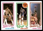 1980 Topps   -  Norm Nixon / Sam Lacey / Kenny Carr 141 / 123 / 54 Front Thumbnail