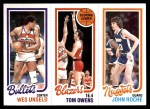 1980 Topps   -  Wes Unseld / Tom Owens / John Roche 251 / 195 / 78 Front Thumbnail