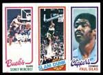 1980 Topps   -  Sidney Moncrief / Lonnie Shelton / Paul Silas 151 / 260 / 220 Front Thumbnail