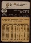 1973 Topps #467  Mike Ryan  Back Thumbnail